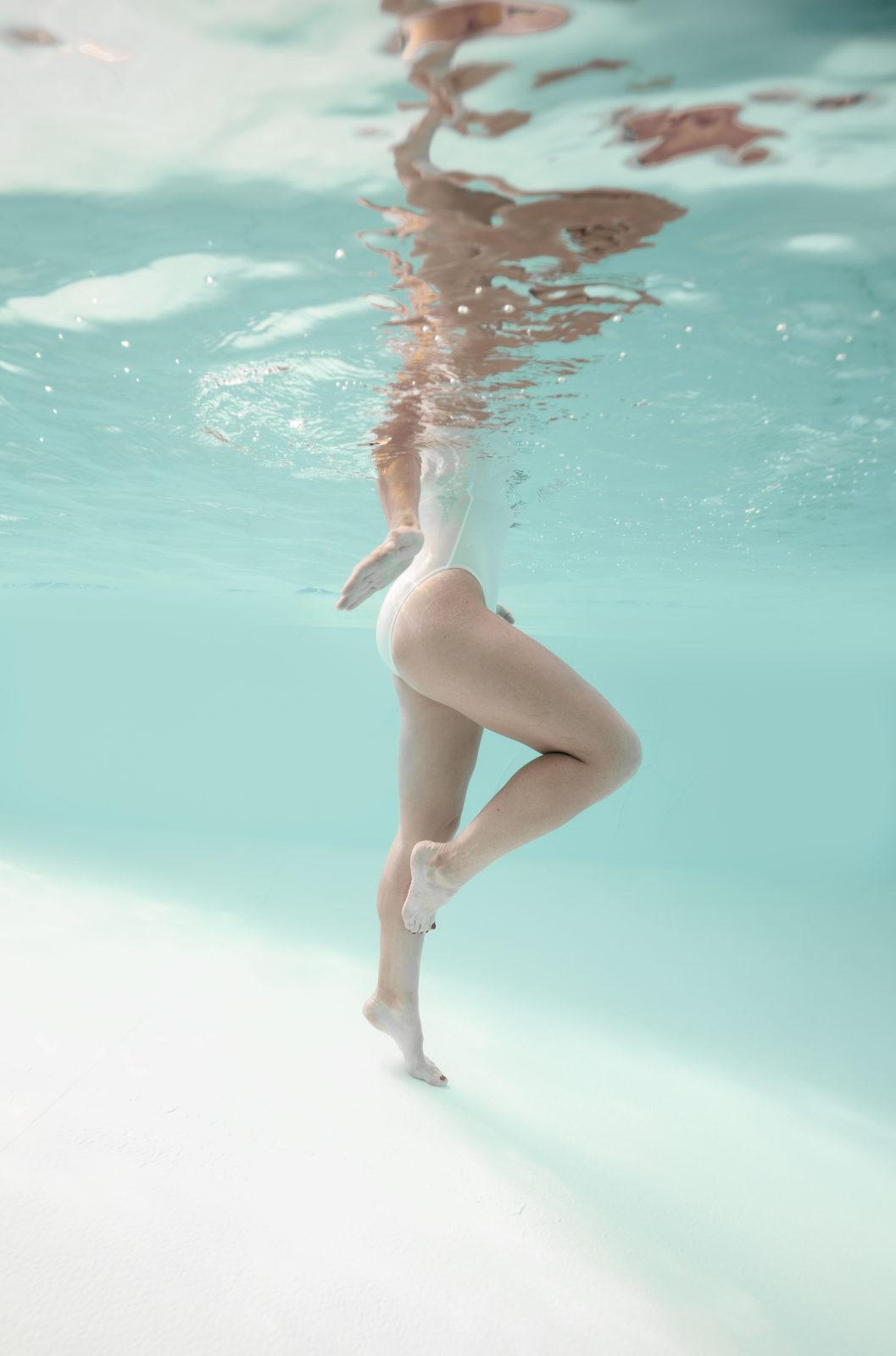 Séance photo grossesse sous l'eau Landes