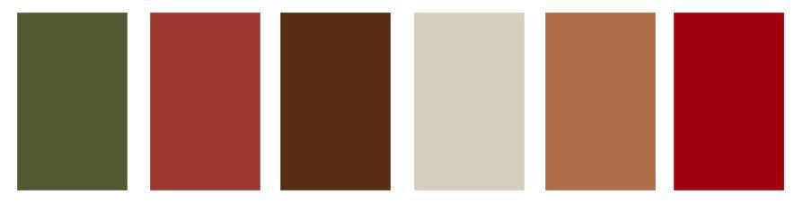 Palette couleur tenues