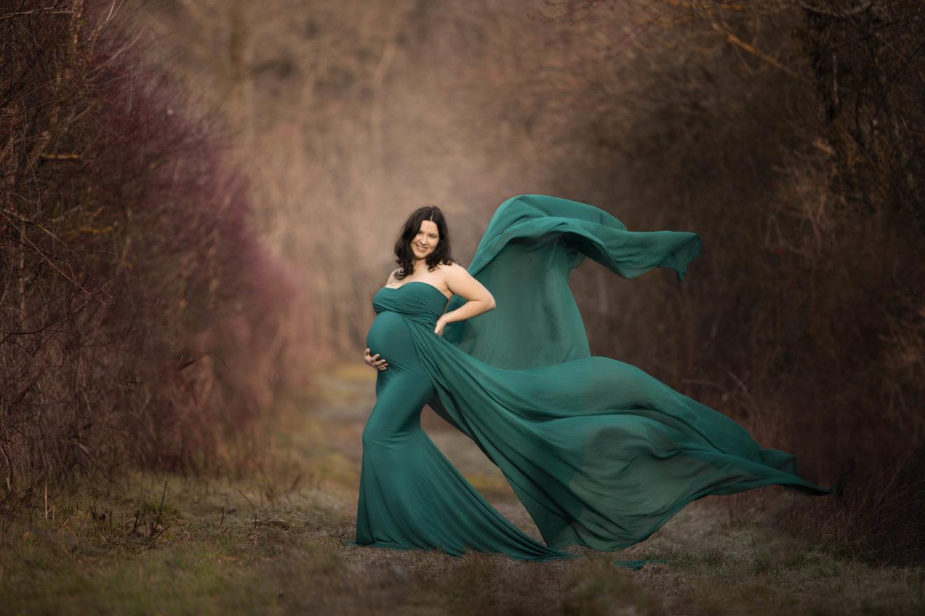 Shooting photo femme enceinte en studio Landes